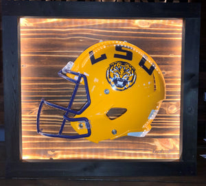Mini Lighted College Football Helmet