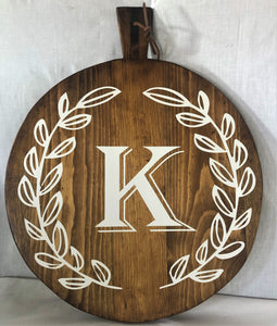 Large Personalized Round Charcuterie Board