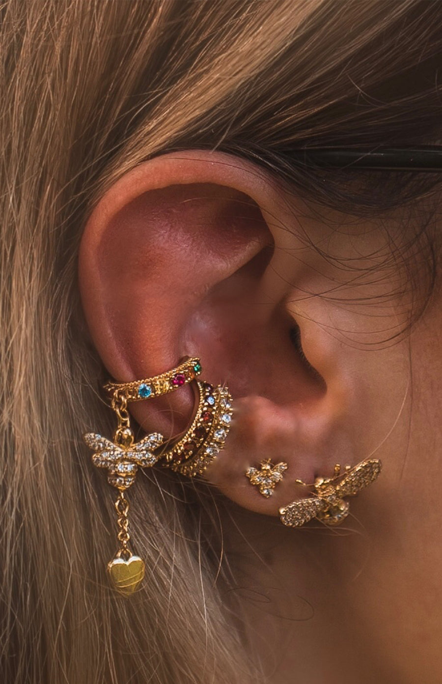 Victoria Bee Rainbow Ear Cuff