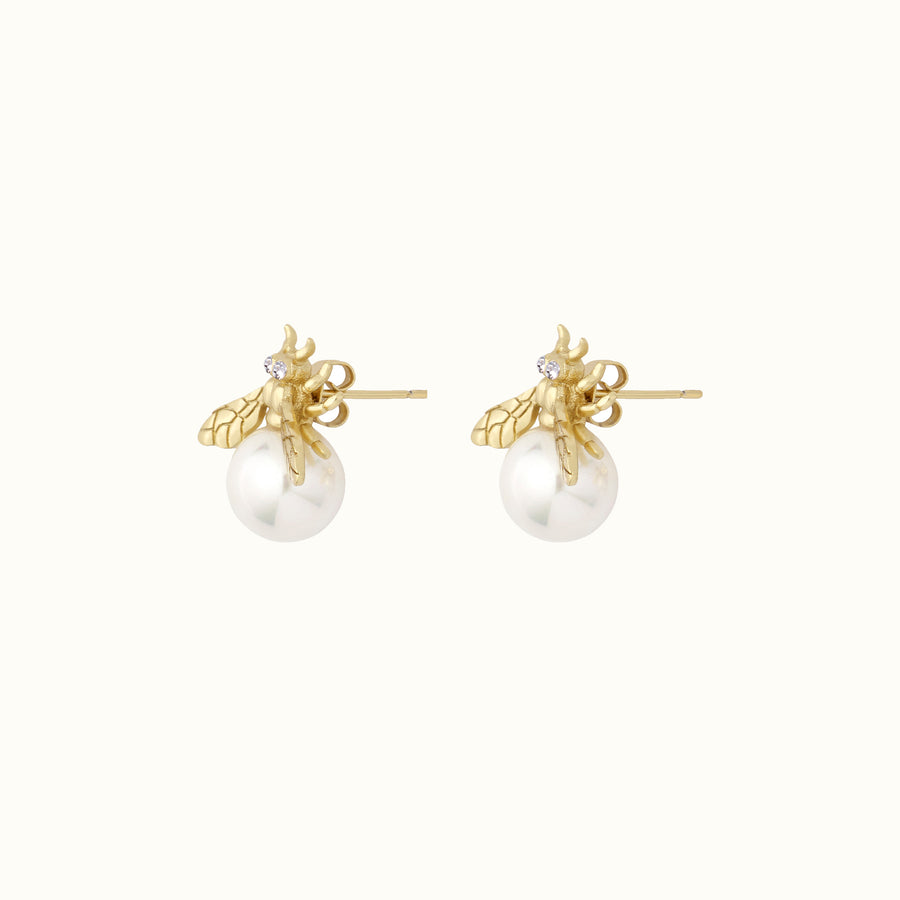 Aurelia Bee Pearl Earrings