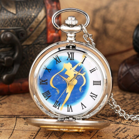 Montre Gousset Sailor Moon bleu