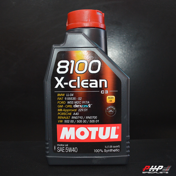 Motul 5W-40 Full Synthetic 8100 X-Clean Engine Oil - 1L