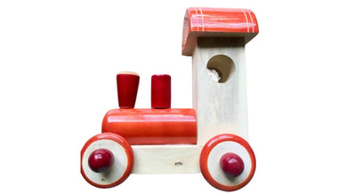wooden pull along toy train engine