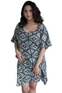 all season black white kaftan front open