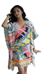 deidaa all season kaftan coral pink
