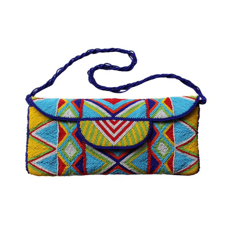 African Style Beaded Clutch Bag