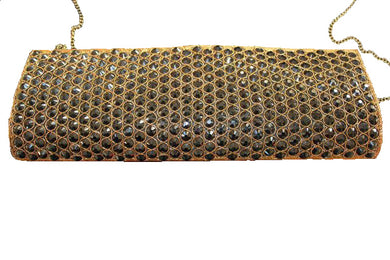 black gold beaded clutch bag optional side sling