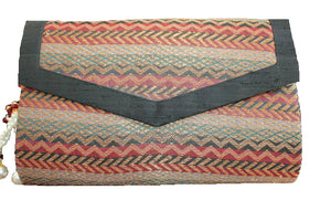 deidaa boho clutch bag handmade black red