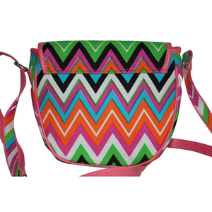 deidaa canvas crossbody bag pink chevron back view