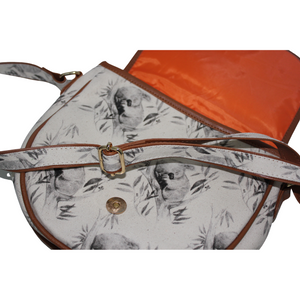 deidaa canvas crossbody bag koala adjustable strap magnetic snap lock