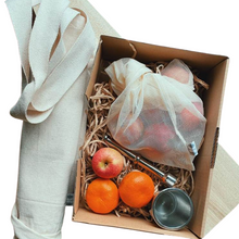 Load image into Gallery viewer, chirstmas gift box canvas pocket bag mesh bag mortar pestle