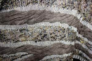 deidaa chunky lurex wool scarf close up