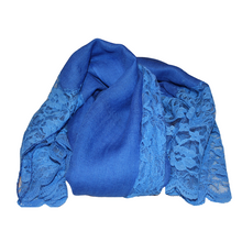 Load image into Gallery viewer, deidaa cobalt blue wool lace scarf