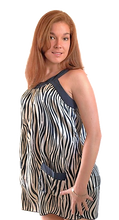 Load image into Gallery viewer, deidaa animal zebra print top with pockets