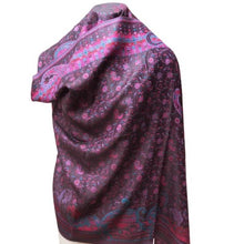 Load image into Gallery viewer, deidaa black pink paisley pashmina scarf