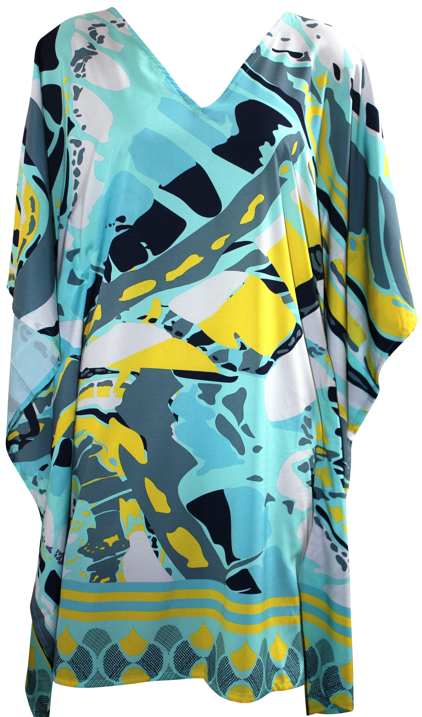 deidaa digitally printed blue kaftan