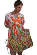 Load image into Gallery viewer, deidaa canvas beach bag shopping tote aztec print