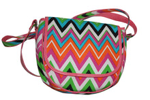 Load image into Gallery viewer, deidaa canvas crossbody bag pink chevron