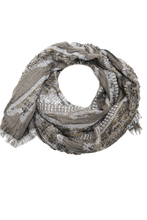 Load image into Gallery viewer, deidaa chunky gold grey wool scarf