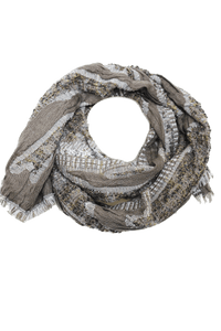 deidaa chunky gold grey wool scarf