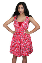 Load image into Gallery viewer, deidaa cotton midi dress floral poppy red