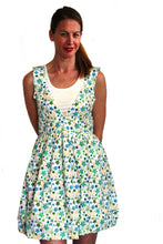 Load image into Gallery viewer, deidaa cotton midi dress white blue floral print