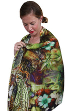Load image into Gallery viewer, deidaa desinger silk scarf paisley print