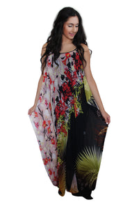 deidaa sheer floral maxi tall woman's dress