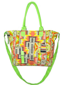 deidaa organic canvas beach bag aztec print