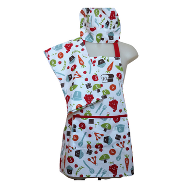 deidaa organic cotton kids apron nursery print