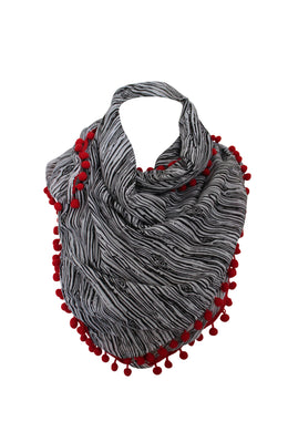deidaa-pompom-cotton-scarf-black-white