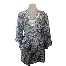 Load image into Gallery viewer, deidaa-sheer-paisley-kaftan-crochet-yoke