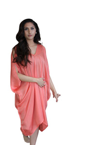 deidaa pink silk dress free size