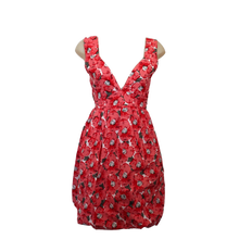 Load image into Gallery viewer, deidaa cotton midi dress floral red