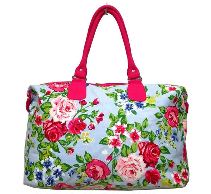 deidaa canvas beach bag floral vegan tote