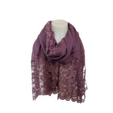 Load image into Gallery viewer, deidaa purple wool lace scarf