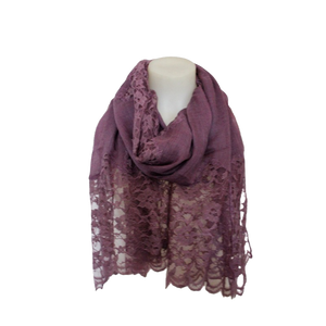 deidaa purple wool lace scarf