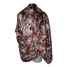 Load image into Gallery viewer, designer silk scarf floral pastel