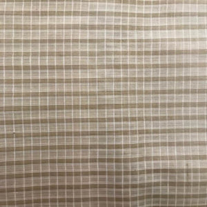 eco fabric tussar beige brown check
