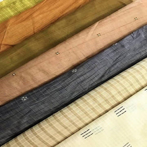eco fabric tussar vegan silk