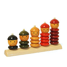 Load image into Gallery viewer, educational wooden counting toy montessori rings