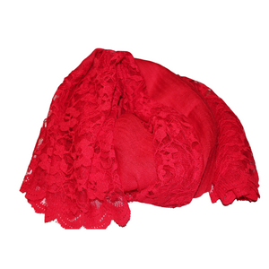 deidaa red wool lace shawl
