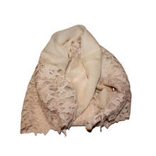 Load image into Gallery viewer, deidaa beige wool lace luxury wrap