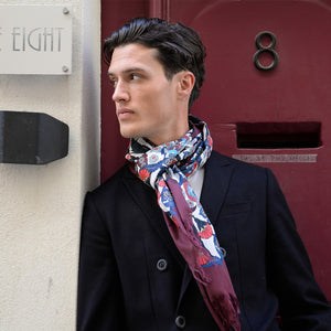 Men's Floral Cotton Scarf