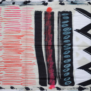 Men's Italian Cotton Graphic Printed Scarf