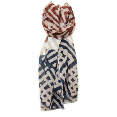 Men's Cotton Linen Animal Print Scarf