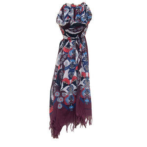 mens floral cotton scarf