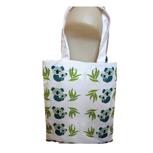 Load image into Gallery viewer, organic cotton kids apron tote koala