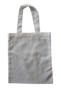 organic cotton reusable calico tote bag