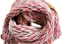 Load image into Gallery viewer, silk wool crinkle scarf pastel chevron